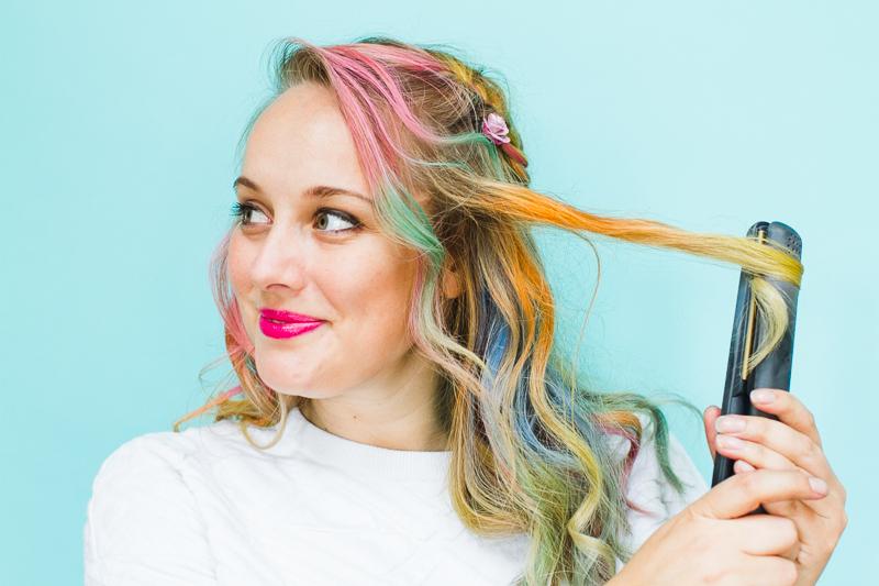 Rainbow-Hair-Unicorn-Pastel-style-chalk-GHD-festival-hair-ideas-fishtail-plait-crown-and-glory-Bespoke-Bride-tutorial-4-Copy